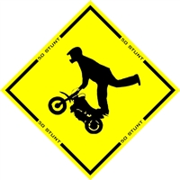 50 STUNT CAUTION STICKER