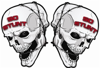 50 STUNT SKULL STICKER