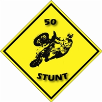 50 STUNT SUPERMOTO CAUTION STICKER