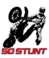 50 STUNT SUPERMOTO RIDER STICKER