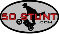 50STUNT OVAL STICKER